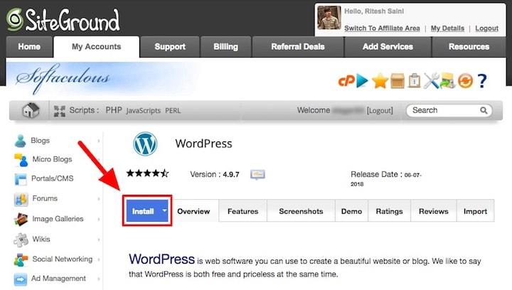 SiteGround WordPress Auto Installer