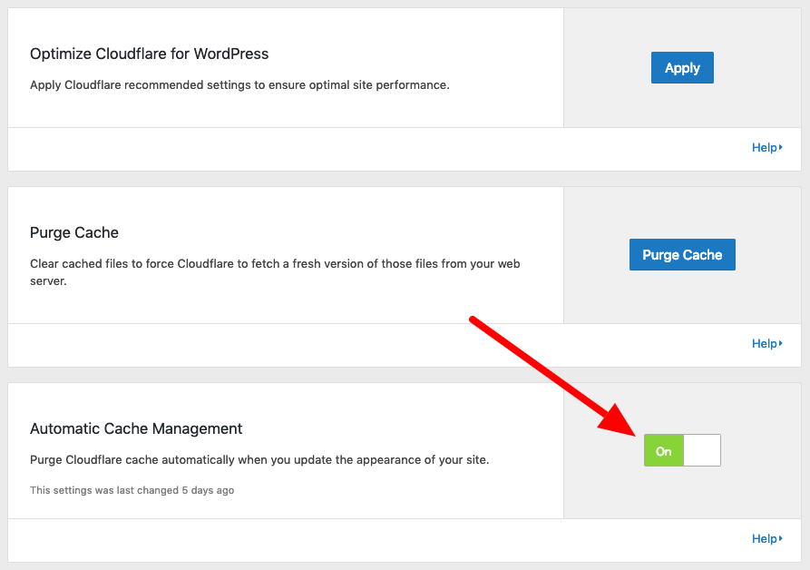 Automatic Cache Management Cloudflare