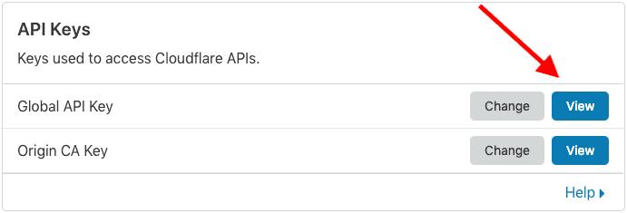 Cloudflare Global API Key