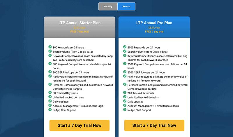 LTP Pricing Options