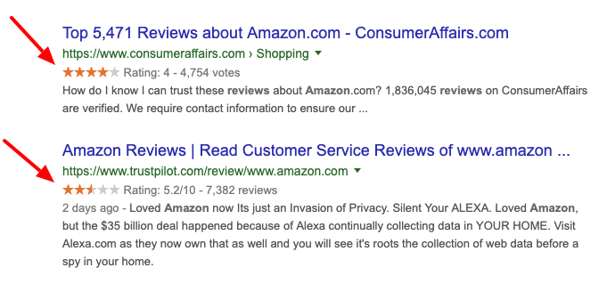 Review Rich Snippets