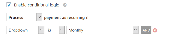WPForms Recurring Payment Conditions