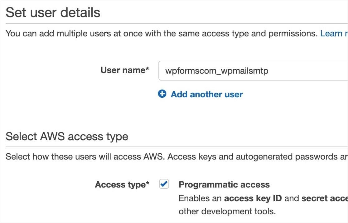 AWS IAM User Setup