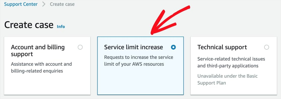 Amazon SES Service Limit Increase